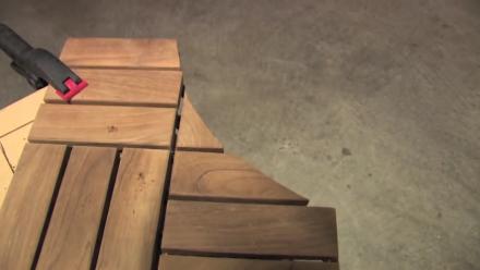 Installation tips of wood deck tiles